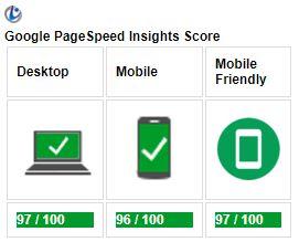 onlinelive.nl pagespeed resultaat