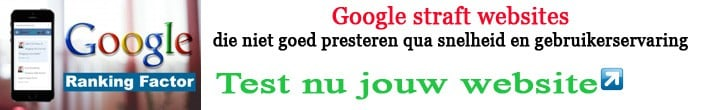 Google straft websites Snelheid is Ranking is Omzet