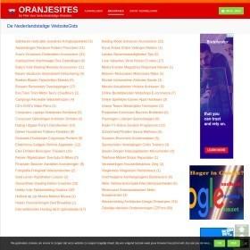 OranjeSites WebsiteGids - De plek voor Nederlandstalige Websites