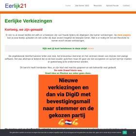 EerLijk21.nl voor eerlijke verkiezingen